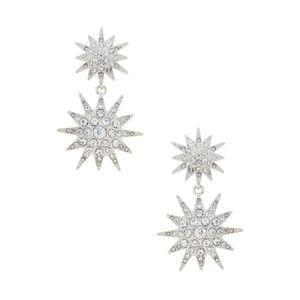 Kenneth Jay Lane Starburst Double Drop Earrings
